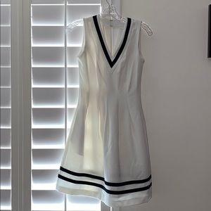 H&M White with Black Tea Dress